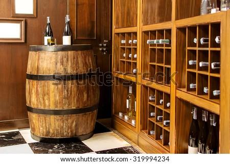 Wine Cellar interior - stock photo