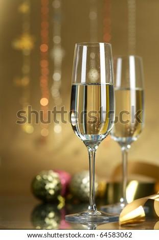 Wine. Champagne - stock photo