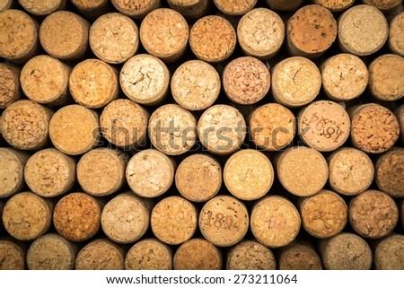 Wine, cork, background. - stock photo