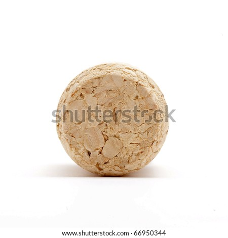 wine cork front - stock photo