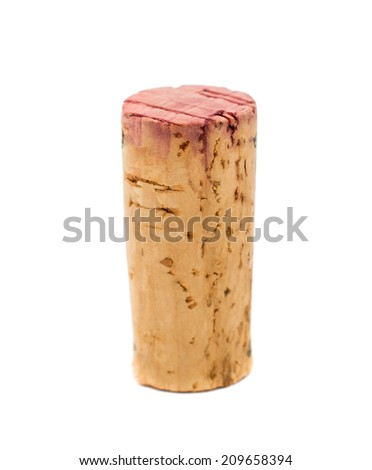 Wine cork, isolated on a white background - stock photo