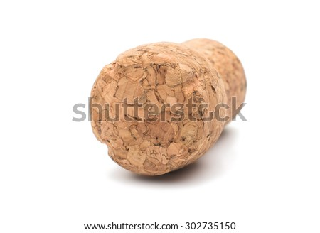 Wine cork, isolated on a white background