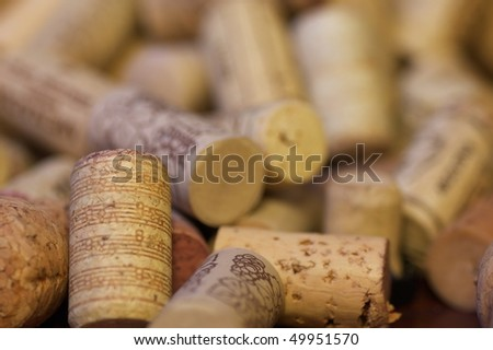 Wine corks abstract - stock photo