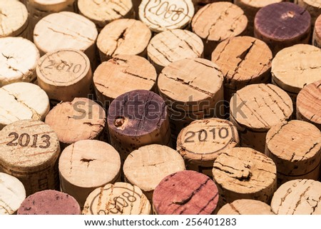 wine corks with years dates