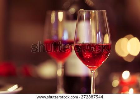 Wine & dine - stock photo