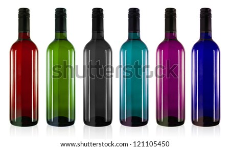 301 moved permanently - Empty colored wine bottles ...