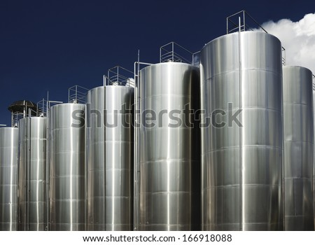 Wine factory - stock photo