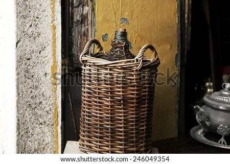 wine flagon - stock photo