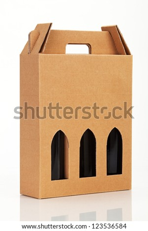 Wine gift box. - stock photo