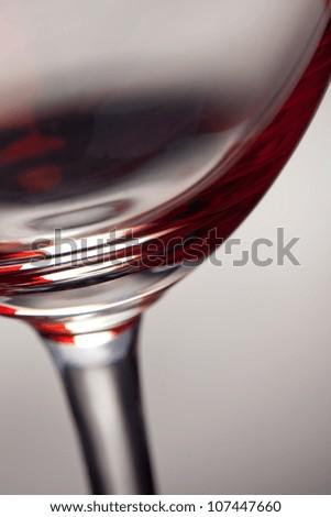 Wine Glas on grey Backgorund - stock photo