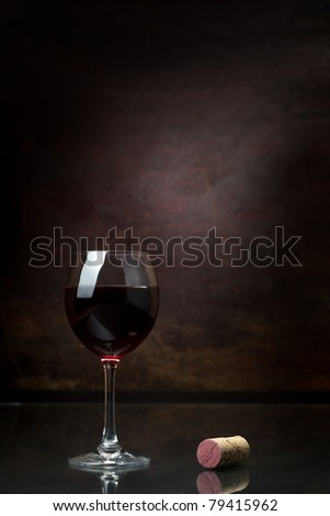 Wine glass - stock photo