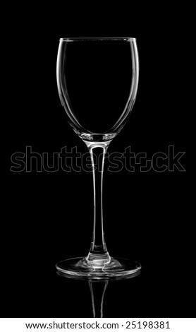 Wine glass for fault
