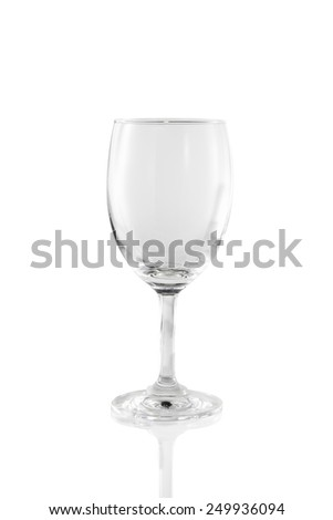 Wine glass. Glass on white background