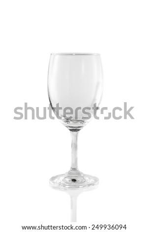Wine glass. Glass on white background - stock photo