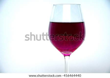 Wine glass on a white background - stock photo