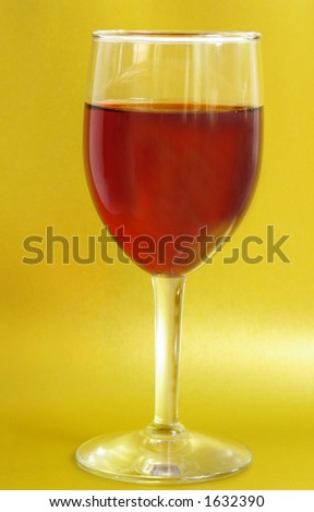 wine glass on gold background