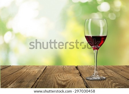 Wine, glass, red. - stock photo