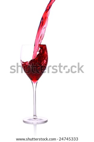 wine glass with stream and splash