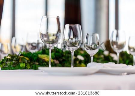 wine glasses - stock photo