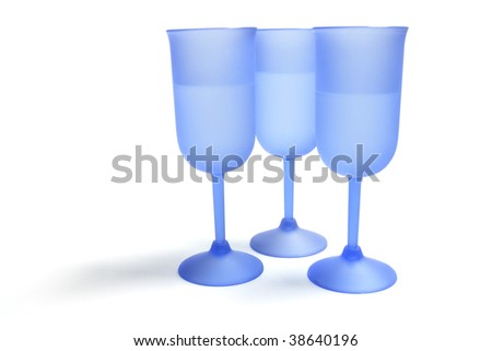 Wine Glasses on Isolated White Background