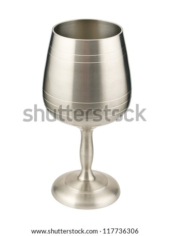 Wine goblet isolated on white with clipping path