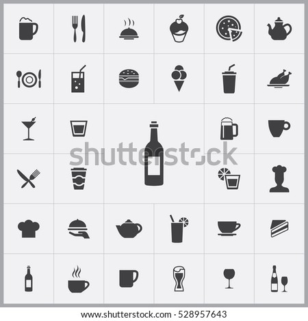wine icon. cafe icons universal set for web and mobile