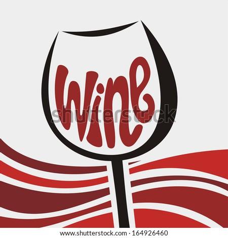 Wine illustration - stock photo