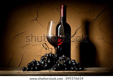 Wine in clay cellar