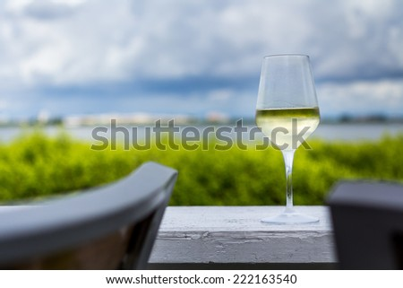 Wine outdoors in Florida