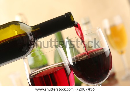 Wine Pour - stock photo