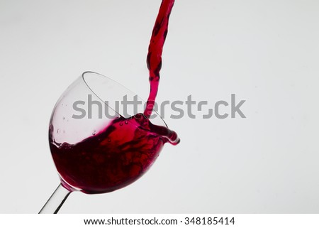 Wine pouring into a glass, studio lighting, Macro