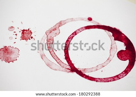 Wine Stain - stock photo
