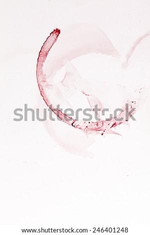 wine stain on white background  - stock photo