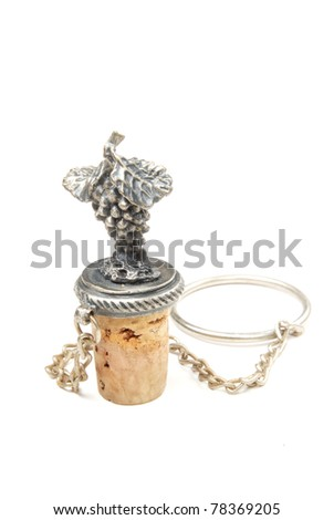 Wine stopper Isolated on white background - stock photo