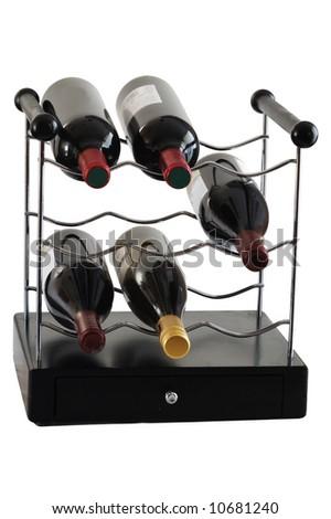 Wine storage unit isolated on wite - stock photo