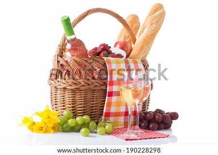 wine tasting and summer picnic concept