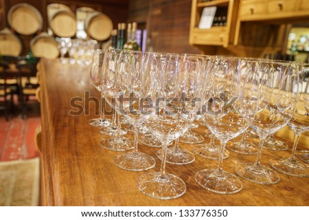 Wine tasting room in Napa - stock photo