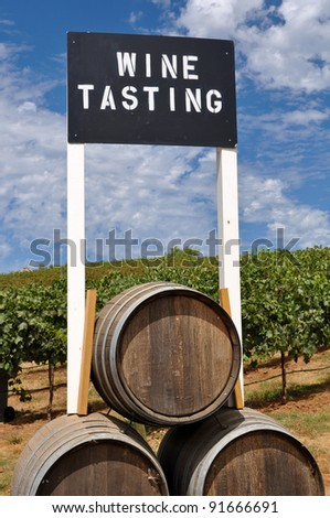 Wine Tasting Sign - stock photo