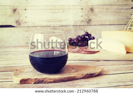 Wine With Appetizer - stock photo