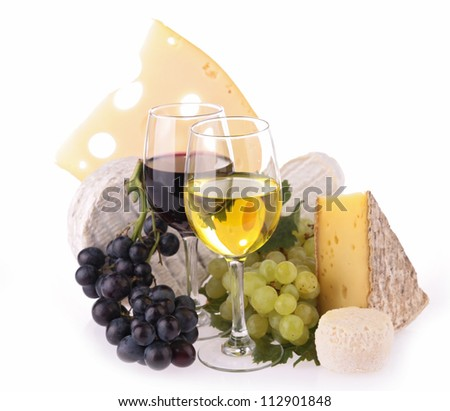 wineglasses and cheese