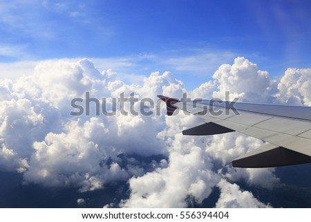 Wing aircraft in the sky