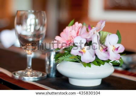 wingalsses on a settle table - stock photo