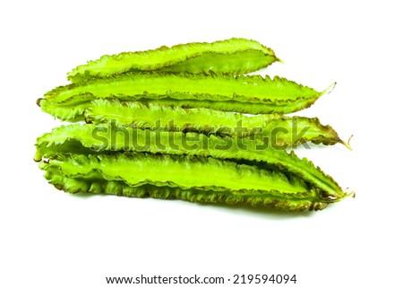 Winged bean on white background  - stock photo