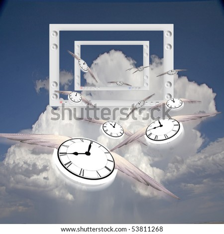 Winged Clocks and flat panels