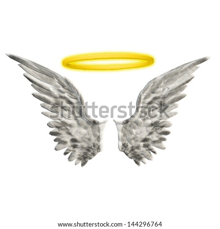 Wings Halo - stock photo
