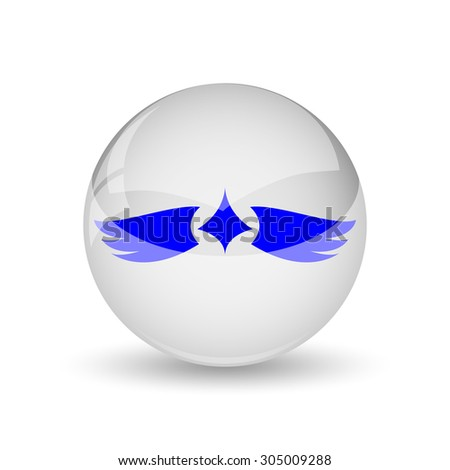 Wings icon. Internet button on white background.