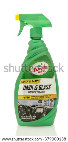 Winneconne, WI - 19 Feb 2016:  Bottle of Turtle Wax dash & glass interior cleaner - stock photo