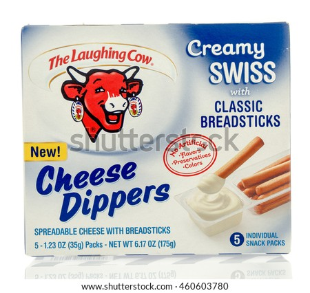 Winneconne, WI - 29 July 2016: Box of The laughing cow cheese dippers on an isolated background.