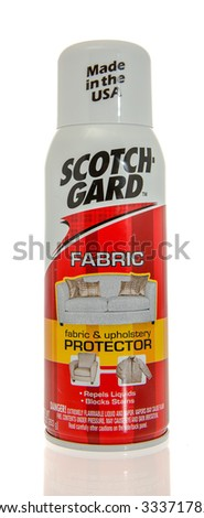 Winneconne, WI -31 Oct 2015: Spray can of Scotch Gard protectant.