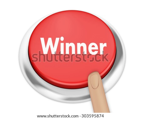 winner button on isolate white background